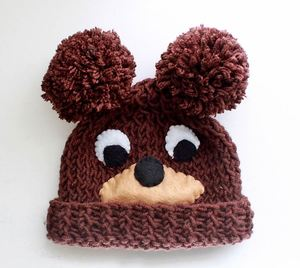 Baby Bear Knit Hat Pattern