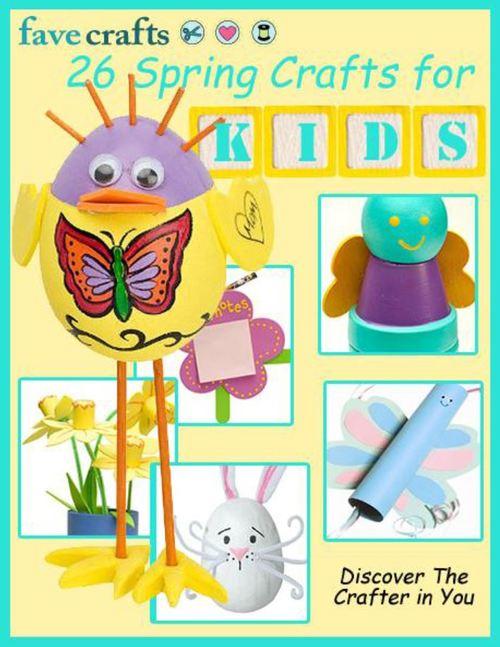 26 Spring Crafts for Kids free eBook