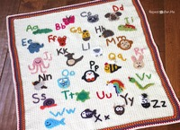Animal Alphabet Crochet Afghan