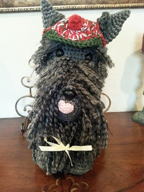 Scottish Terrier Dog Crochet Amigurumi Pattern