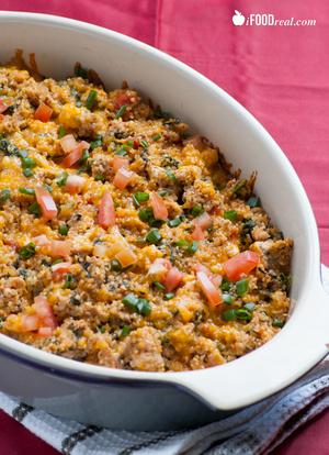 Spinach and Turkey Quinoa Casserole