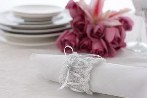 Glamorous Crochet Napkin Rings