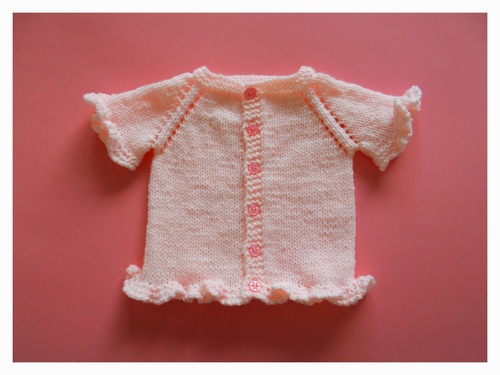 Sweet Ruffled Baby Cardigan