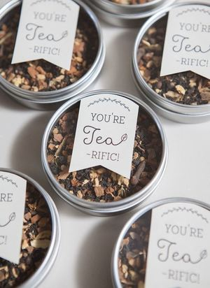 Tea-Riffic Wedding Favors