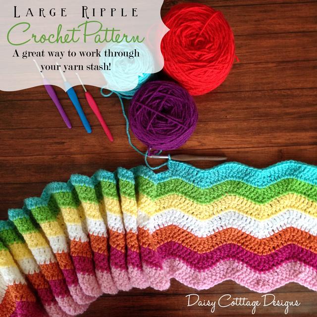 Stashbuster Ripple Crochet Afghan