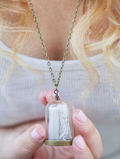 Wedding Dress Keepsake Necklace