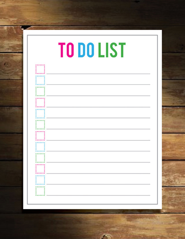 Rare image within free to do list printables