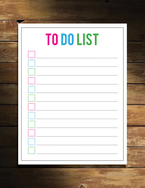 Free Printable To-Do List
