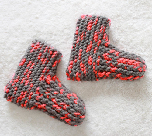 Snow Day Knit Slippers