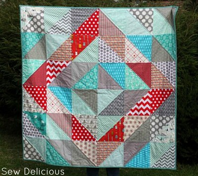 25 half square triangles free quilting patterns for Red door design quilts