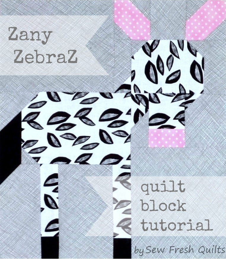 Zany Zebra Quilt Block Pattern Favequilts Com