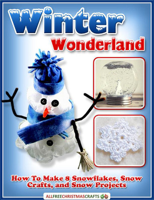 Winter wonderland how to make 8 snowflakes snow crafts for How to make winter crafts
