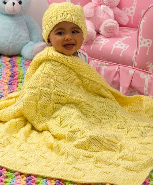 Sunshine Blanket and Hat Baby Set