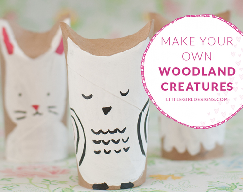 Woodland Creatures Toilet Paper Roll Craft