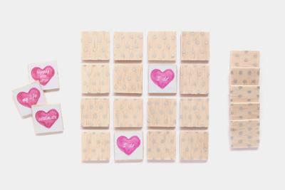 Adorable Mini Hearts Wedding Memory Game