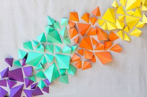 Colorful Geometric DIY Wedding Backdrop