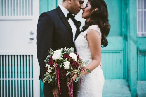 Urban Chic Marsala Wedding