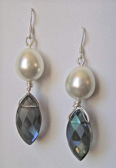 Pearl Drop Briolette Earrings