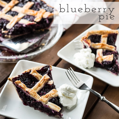 Blissful Blueberry Pie