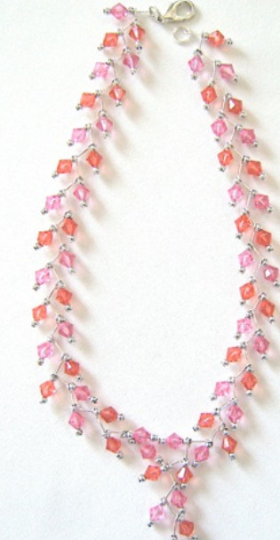 Tulip Tint Crystal Necklace