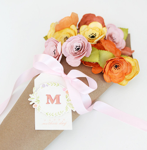 Handmade Camellias Flower Bouquet