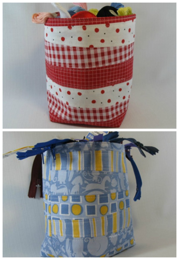 Scrappy Fabric Baskets