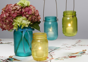 Quick Colorful Mason Jar Craft