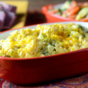Breezy Cheesy Broccoli Rice Casserole