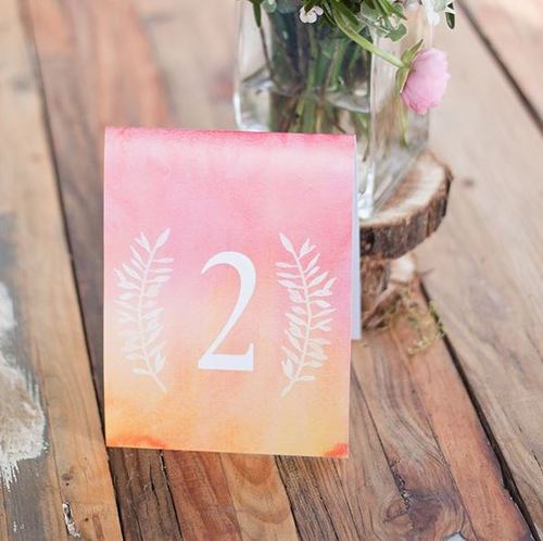 Unexpected Ombre Printable Table Numbers