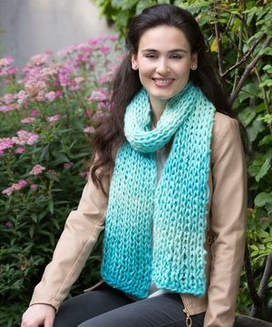 Sea Glass Knit Scarf