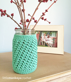 Mason Jar Crochet Cozy