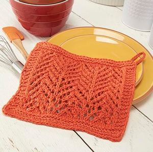 Classic Chevron Knit Dishcloth