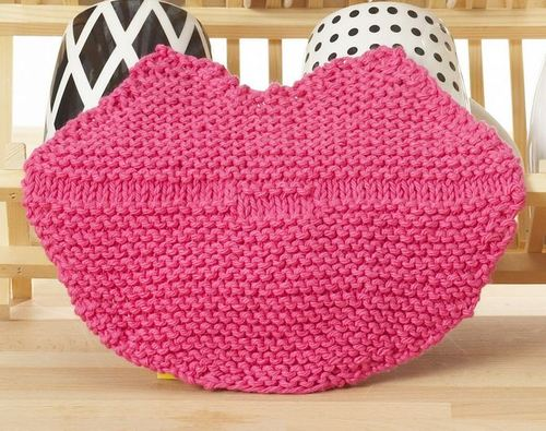 Lip Service Knit Dishcloth
