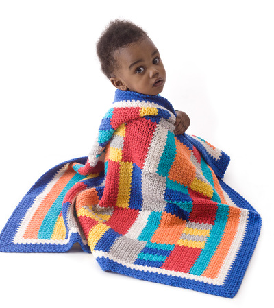 Modern Patchwork Crochet Afghan