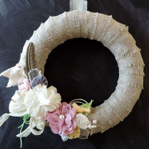 Sweet Country Burlap Wreath
