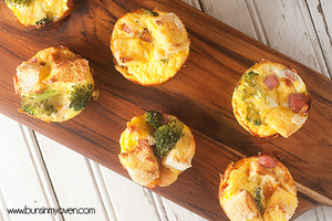 Mini Ham and Egg Casseroles with Broccoli