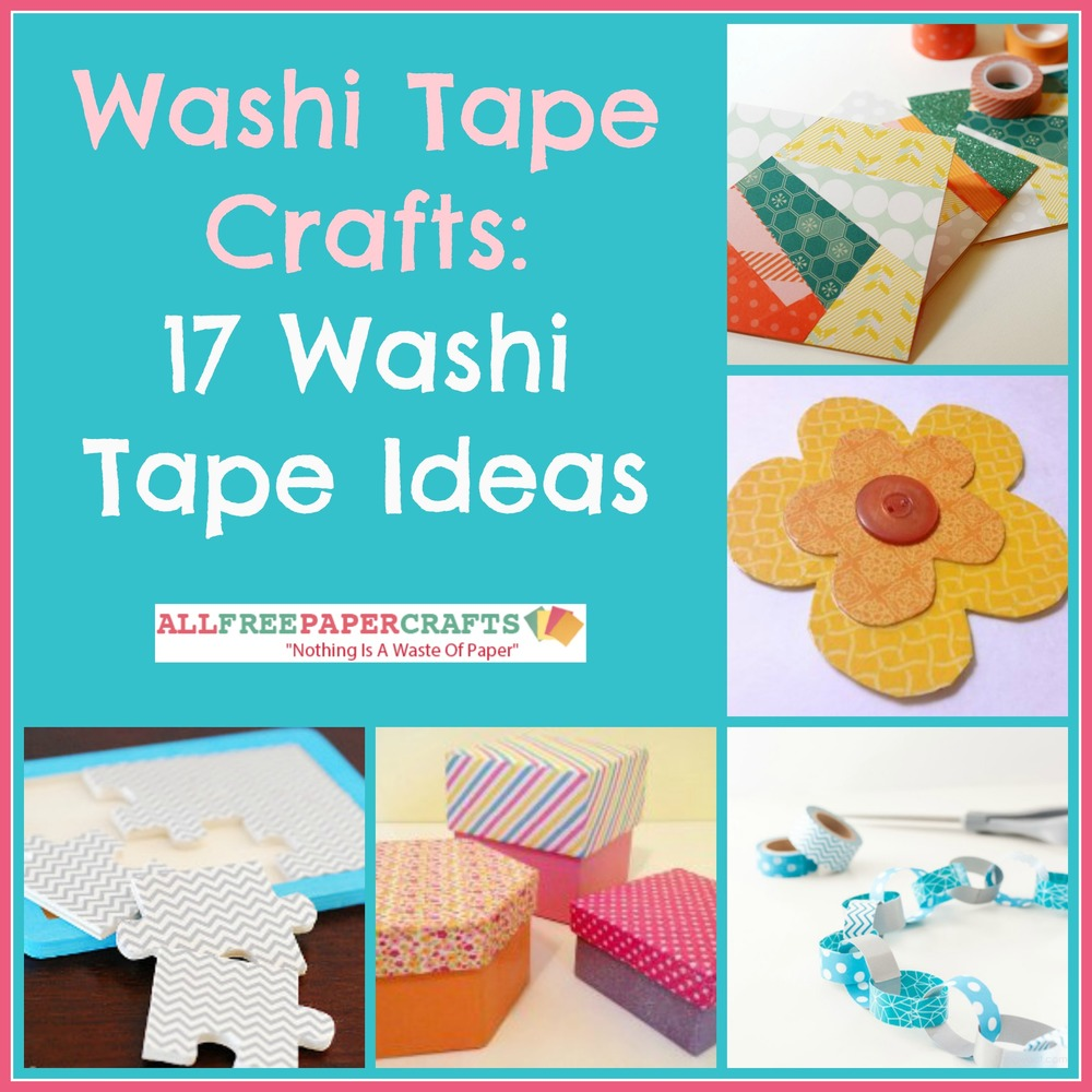 Washi Tape Crafts Washi Tape Paper Crafts 17 Washi Tape Ideas  Allfreepapercrafts