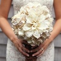 Vintage-Inspired White Wedding Bouquet