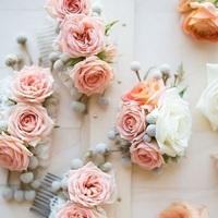 Blushing Bride Rose Hair Slide