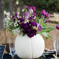 Exquisite Black and Purple Halloween Wedding