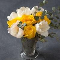 Pop of Yellow DIY Flower Arrangement
