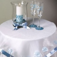Pretty Petal Unity Candle and Stemware