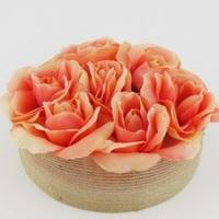 Rustic Elegance Rose Centerpieces
