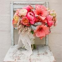 Just Peachy Wedding Bouquet