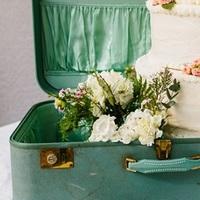 Vintage Suitcase Cake Display