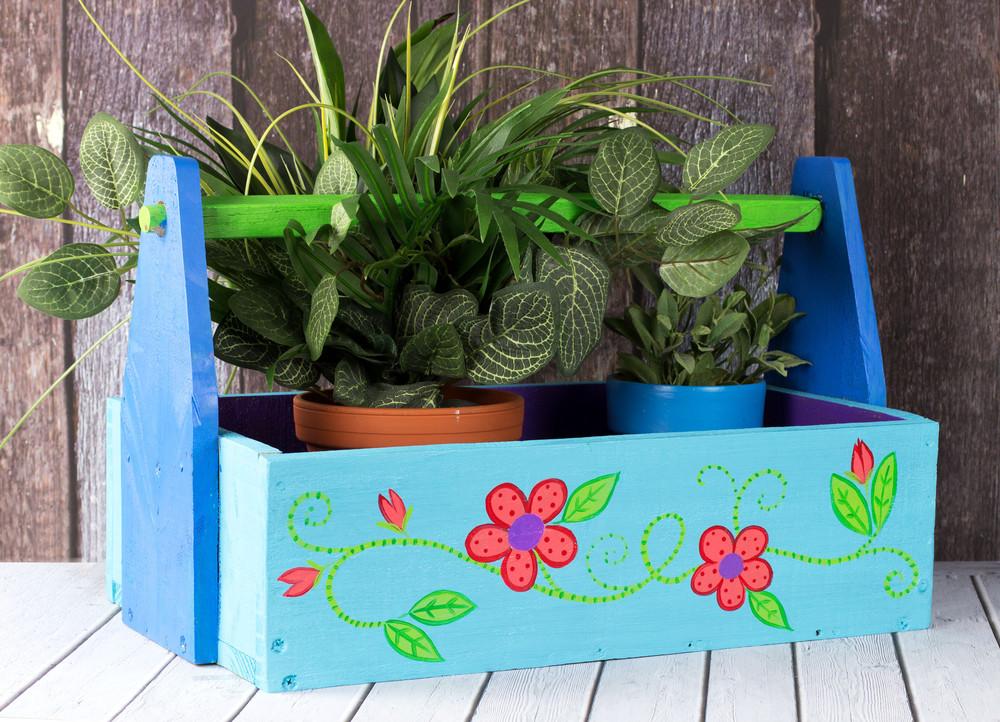 Floral Tote Garden Craft