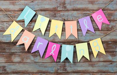 Lovely Little Darling Banner Baby Shower Craft