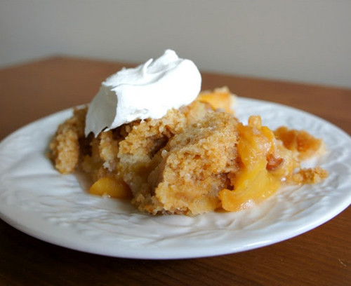 Cake Mix Peach Cobbler