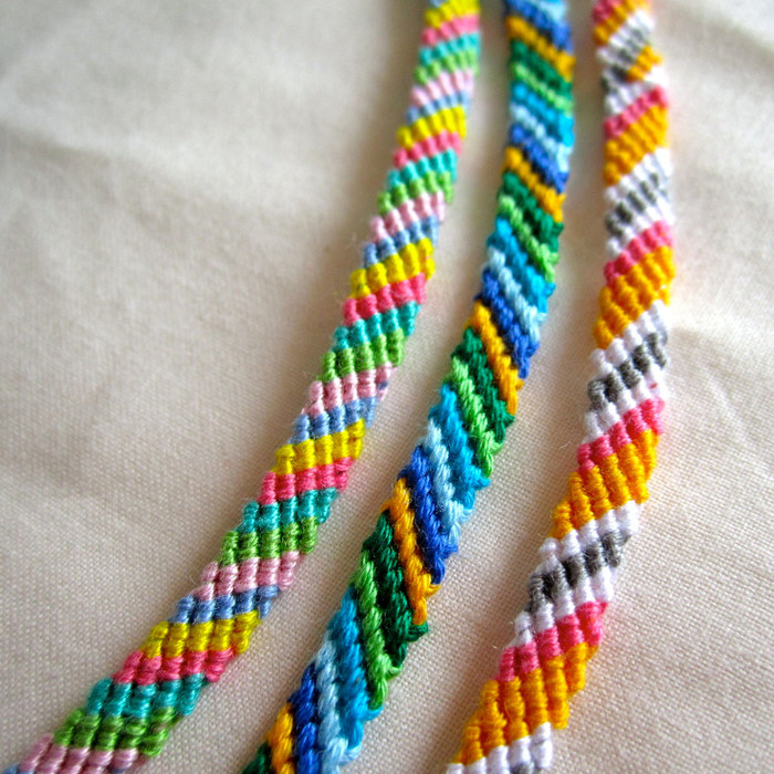 Colors of Summer Friendship Bracelets