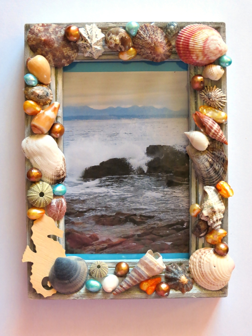 super seashells picture frame craft On picture frames for crafts